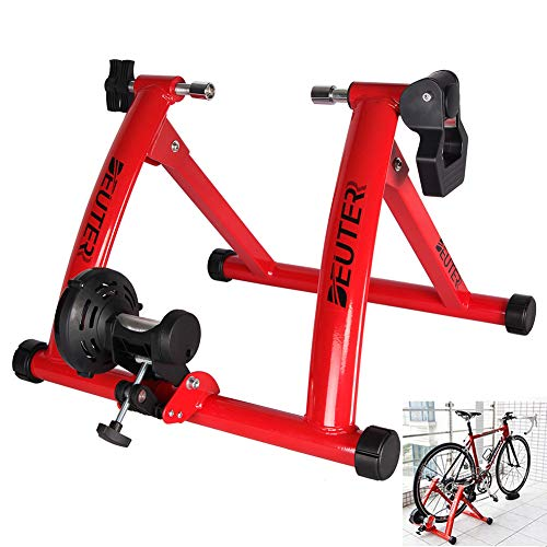 Cacoffay Tragbar Indoor Fahrrad Trainer Stand, Schwerlast Stabil Fahrrad Stationär Reiten Stehen Unterstützt Laden Lager 290lbs Fahrrad Trainer Zum Radfahren Fahrrad Reiten Übung Auszubilden