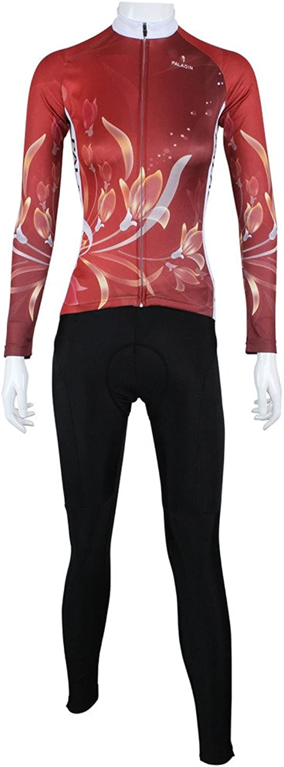 LAOYOU Red Lily Womens Cycling Jersey Size XS To 6XL