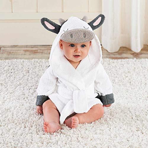 XCYG Schöne kleine Maus Panda Baby Bademantel Reine Baumwolle mit Kapuze Bademantel Strand Badetuch/Rattenmäuse Spa Robe Infant Ponchos Kuh