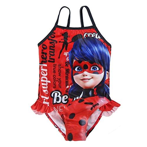Miraculous, Le storie di Ladybug e Chat Noir 2200002741 Costume Intero, con Volant, Bambina, Rosso (4 anni)