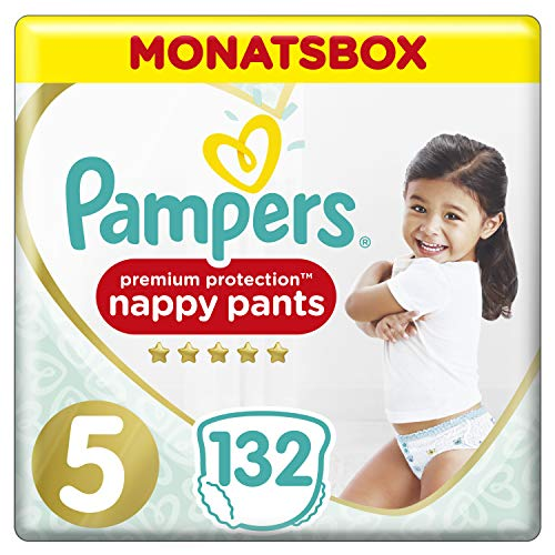 Pampers Premium Protection Pants, Gr. 5, 12kg-17kg, Monatsbox (1 x 132 Pants)