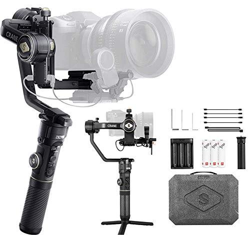 Zhiyun Crane 2S 3-Achsen Gimbal Stabilisator Kompatibel mit spiegelloser und DSLR-Kamera Kompatibel mit Sony Nikon BMPCC 6K Panasonic S1H Canon EOS 1DX Mark II, Vertikalaufnahme, 12 Stunden Laufzeit