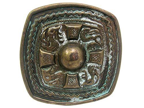 Antique Brass Celtic Cross Western Belt Buckle