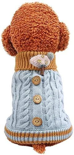 li s Winter Dog Warm Sweater Puppy Clothes Small Dog Chihuahua Knitting Crochet Party Cloth product image