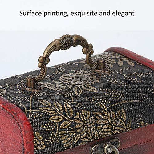 Caja organizadora vintage cuadrada hecha a mano de madera decorativa para anillos, pendientes, collares, pulseras, organizadores, joyas, caja de almacenamiento, grabadora de voz y accesorios