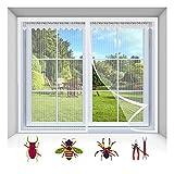 Fliegengitter Fenster, Waschbares Mückengitter für Balkontür Terrassentür Wohnzimmer |...