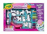 Crayola 74-7321-E-000 Washimals Pets Super Kit de coloriage créatif avec marqueurs lavables Multicolore