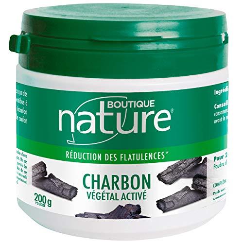 Boutique Nature - Complément Alimentaire - Charbon Végétal Activé - En Poudre - Digestion Facile