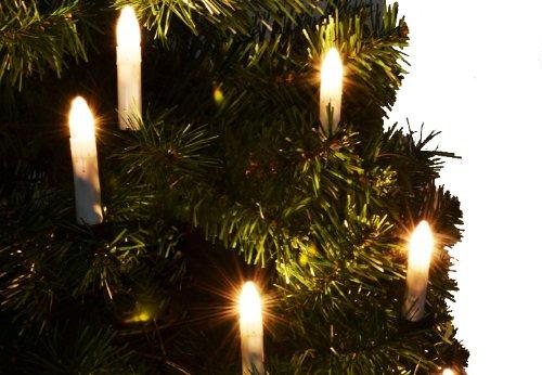 Nipach GmbH 10 bougies LED sans fil pour sapin de Noël - Avec télécommande