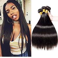 YANG1MN 10Aレベルのブラジルの毛髪品質の本物の髪の髪の黒の長いストレートの髪のヘアケアは濃い休日の髪を気にしやすい8〜30インチの自然な色に染めることができる (Size : 28'')