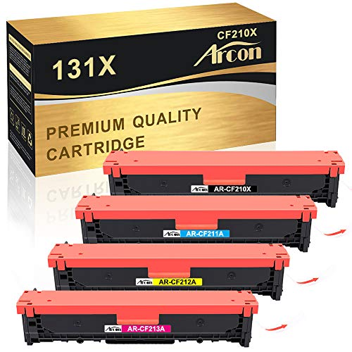 h-pro 4-pack di ricambio compatibile per 131 A 131 x CF210 A CF210 X CF211 A CF212 A CF213 A per HP LaserJet Pro 200 color M251 M251 N MFP M276 N, M276nw Canon I-Sensys LBP7110CW 7100 CN