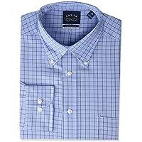 Eagle Men's Non Iron Stretch Collar Regular Fit Plaid Dress Shirt, Size 16.5