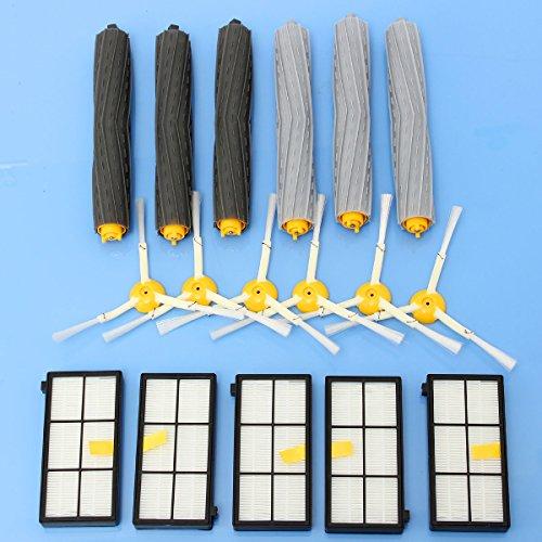 Kit Set HEPA Filtri Side Spazzole Per iRobot Roomba 800 900 Aspirapolvere Parti