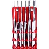 KS Tools 156.0180 - Conjunto de punzón, 17 PC en soporte de metal