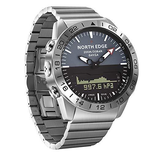 SUQIAOQIAO Multi-Funktions-Sport-Bergsteigen Uhr, Im Freiensport-Thermometer Kompass Höhe Luftdruck Batterie Erinnerung wasserdichte Uhr