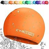 CybGene Silicone Cuffia Piscina per Donna e Uomo, Cuffia da Nuoto per Bambino, Arancione, Taglia per Bambino (S)