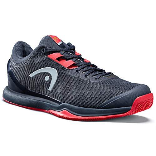 HEAD Herren Sprint Pro 3.0 Clay Men Tennisschuh, Navy blau/neon rot, 41 EU