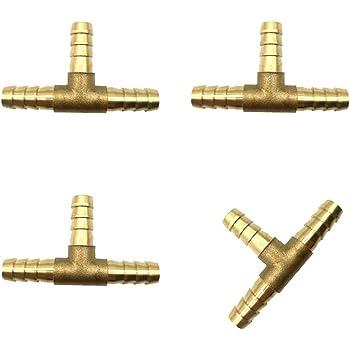 6 mm de diam/ètre int/érieur en forme de T 3 voies eau au gaz en laiton pour raccord de tuyau darrosage ardillon