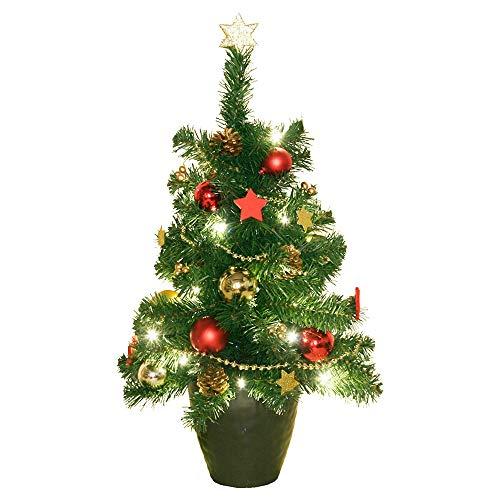 LED Weihnachts Tannen Baum Deko Flur Lampe X-MAS Blumentopf Kugeln Schmuck Leuchte Harms 507178