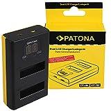 PATONA Cargador USB Dual LCD para SPCC1B Bateria Compatible con GoPro MAX