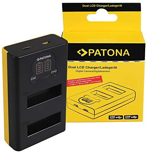 PATONA Caricatore doppio LCD USB compatibile con DJI Osmo Action Camera AB1 PO1 ActionCam