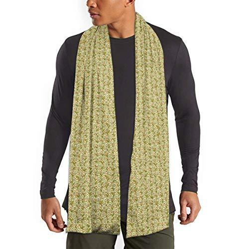 MoMo Berrylicious-Sellerie Männer Kaschmir-Schal Silky Warm - Baumwolle Schal für den Winter