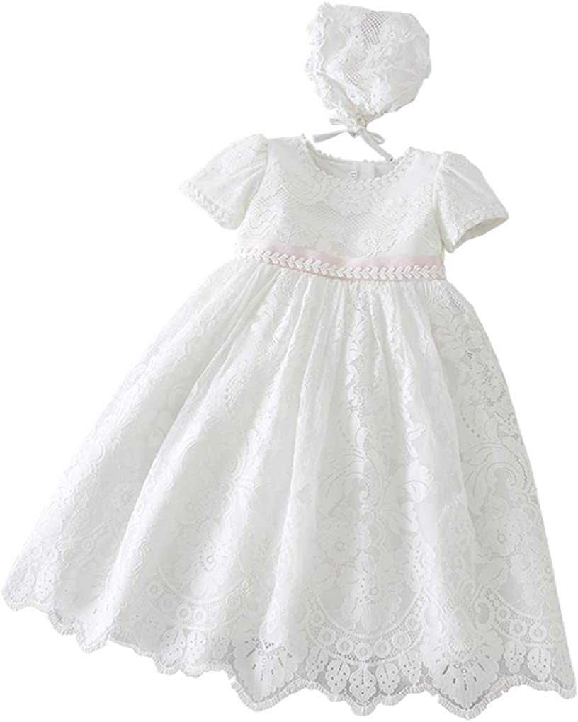 Xopzsiay Baby 2021 model Girls 35% OFF Embroidered Empire Waist Gown Ba Christening