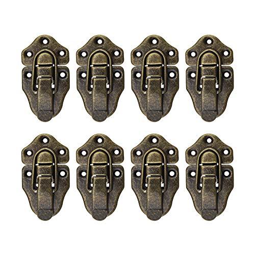 OTOTEC - Juego de 8 cierres para cajas, estilo retro, de metal, estilo retro, color bronce...