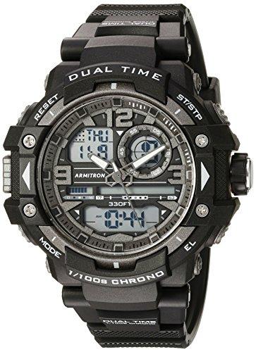Armitron Sport Relógio Masculino Analógico-Digital Cronógrafo 20/5062, Preto
