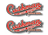 2 Cushman Motor Scooter 9' Decals Vintage Eagle Husky Scooters Golfster Vinyl Stickers
