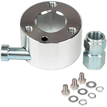"""3 Bolts 360 Degree Steering Wheel Quick Release Disconnect Hub 3//4/"""" Shaft Size"""
