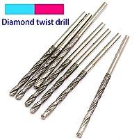 FYYONG ガラスジュエリー瑪瑙ファイン掘削のために10個入りダイヤモンドコーティングされたツイストドリルビットセットの針高速度鋼研磨パワーツール (Hole Diameter : 0.8mm, Shank Shape : 10pcs)