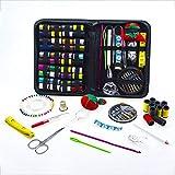 JFJL Bundle Kit De Costura con Tijeras, Dedal, Hilo, Agujas, Cinta Métrica, Maletín De Transporte Y Accesorios
