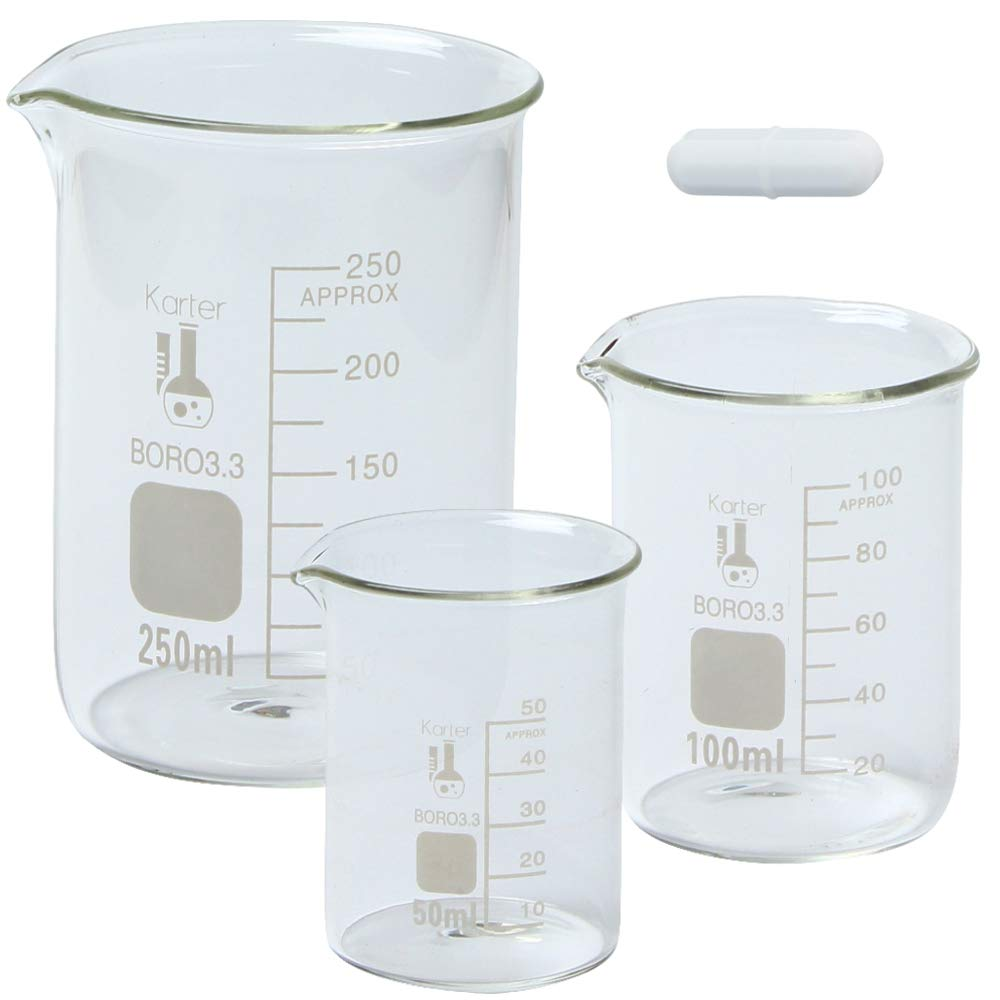 Glass Low Form It Our shop most popular is very popular Beaker Set with Magnetic Bar 50 Stir Sizes - 3
