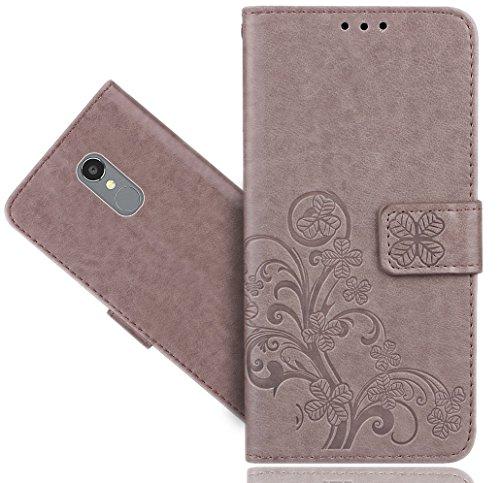 BLU VIVO 5R Case, FoneExpert Premium Leather Flower Kickstand Flip Wallet Bag Case Cover for BLU VIVO 5R