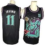 WOLFIRE WF Camiseta de Baloncesto para Hombre, NBA,Brooklyn Nets # 11 Kyrie Irving. Bordado, Transpirable y Resistente al Desgaste Camiseta para Fan (Monster, L)