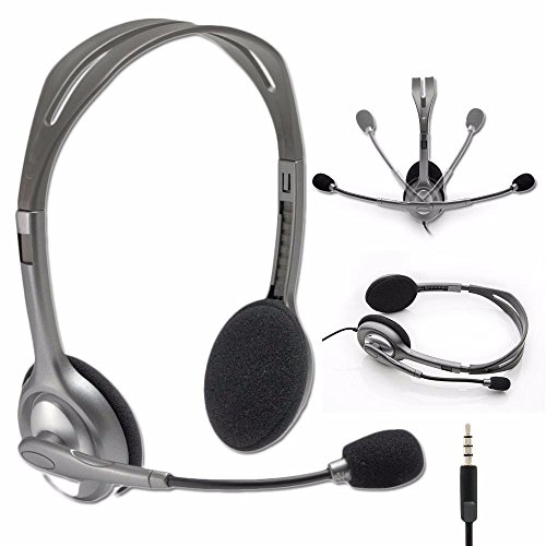 Logitech Stereo Headset H111/H110 with Noise Cancelling Microphone - Bulk Packaging