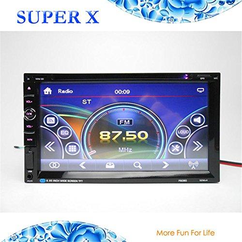 Boomboost Car DVD Autoradio 2 Din Bluetooth Audio tête de la vidéo avec USB SD AUX FM Radio