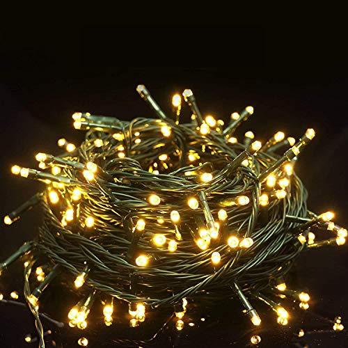 Guirlande lumineuse à LED pour l'intérieur et l'extérieur Parfaite pour le sapin de Noël, une fête, le jardin, la chambre à coucher, Halloween, etc.