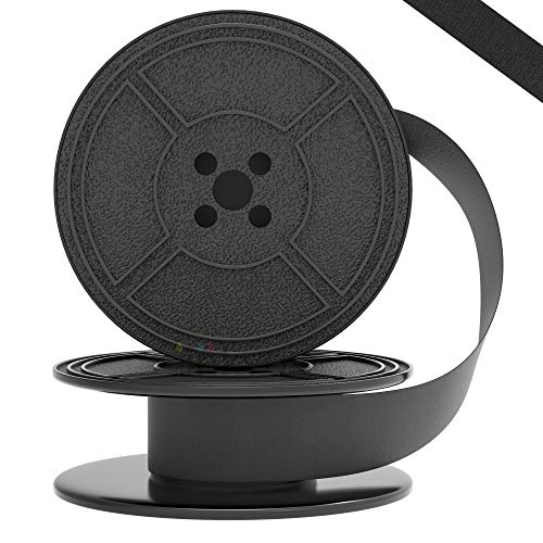 Inkvo Twin Spool Typewriter Ribbon - Black Ink - Fresh Ink Replacement - Compatible with Smith Corona, Royal, Remmington, Underwood, Brother, Olivetti, Olympia, Adler and More - 1 Pack