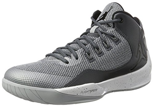 Nike Herren Jordan Rising High 2 Basketballschuhe, grau, 42.5 EU