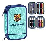 FC Barcelona Plumier Doble, Estuche con 28 Piezas, niño
