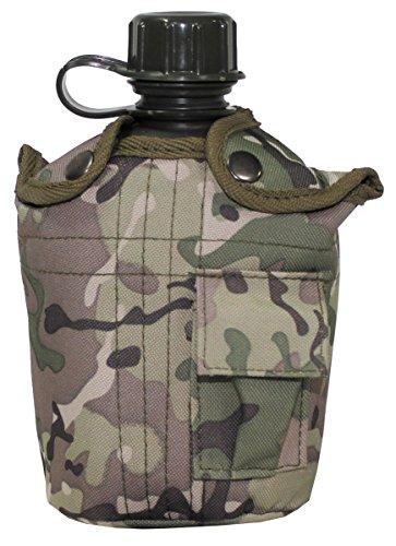 MFH Leichte Feldflasche aus Kunststoff 1 Liter Trinkflasche Camping Flasche LARP viele Farben (Operation Camo)