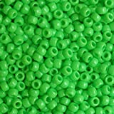 Lime Green Crow Beads Pony Beads Made in USA 6x9mm