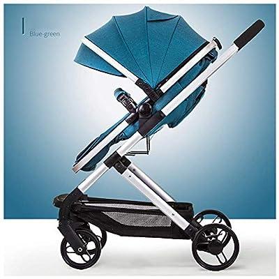 LLSS Baby Stroller Cochecito de bebé 2 en 1, Fácil de Plegar y Ajustar, Cesta para Dormir Ajustable, El bebé Puede Sentarse o acostarse, Suspensión en Las Cuatro Ruedas,