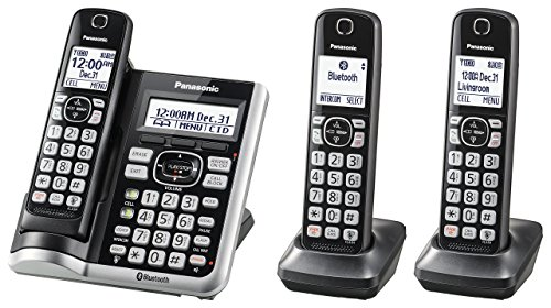 Panasonic KX-TGF573S Link2Cell BluetoothCordless Phone with Voice Assist and Answering Machine - 3 Handsets (Renewed)