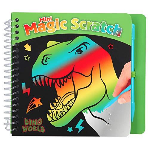 Depesche 10711 – Libro para Colorear Magic Scratch Book, Dino World