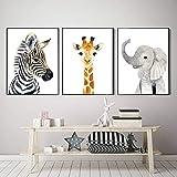 Safari Tiere Kinderzimmer Poster und Drucke Elefant Zebra
