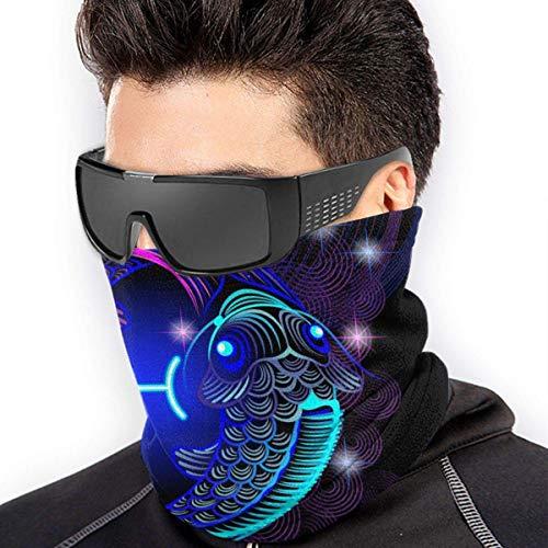 fenrris65 Constelación signo del zodiaco Piscis máscara facial bandanas bufanda calentador de cuello pasamontañas diadema para polvo deportes al aire libre sol