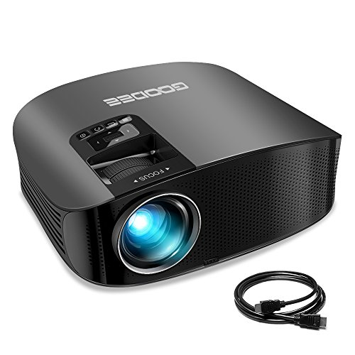 "Projector, GooDee Video Projector 200"" LCD Home Theater ..."